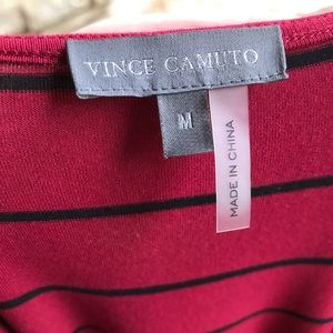 Vince Camuto Tops - Vince Camuto Striped Keyhole Short Sleeve Top M